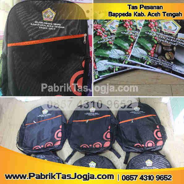 Pabrik Tas Pesanan Bappeda Kab. Aceh Tengah